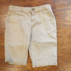 Girls Old Navy Khaki Uniform Shorts sz 12
